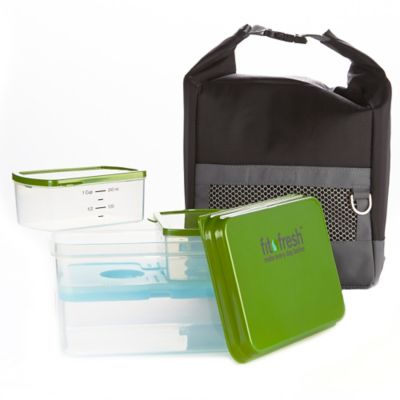 Fit & Fresh Sporty Lunch Bag Kit in Black