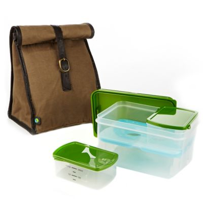 Fit & Fresh® Classic Insulated Lunch Bag with Ice Pack and Container Set in Brown