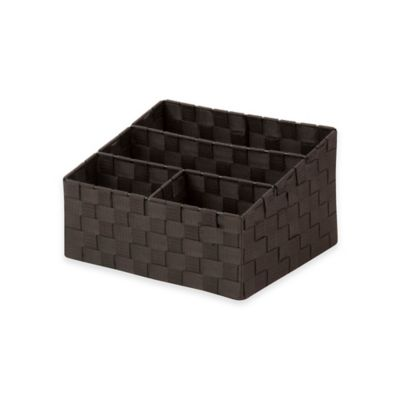 Honey-Can-Do Mail and File Organizer Storage Box in Black/White
