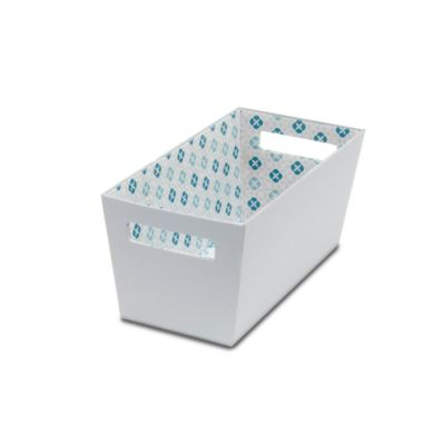 b+in® Fabric Quarter Storage Bin in Grey