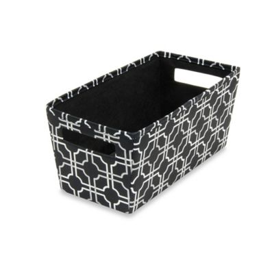 b+in® Fabric Quarter Storage Bin in Black