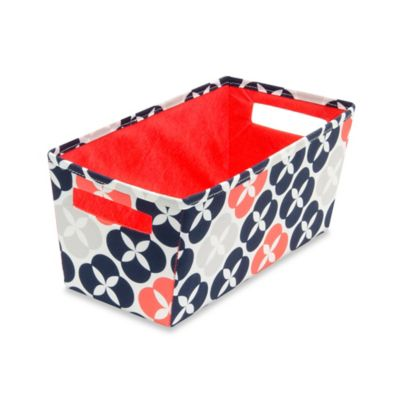 b+in® Fabric Quarter Storage Bin in Blue