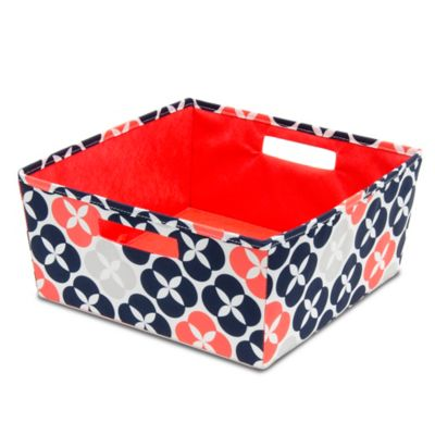 b+in® Fabric Half Storage Bin in Blue