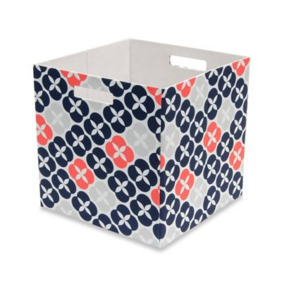 b+in® Fabric Full Storage Bin in Blue