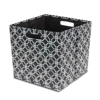 b+in® Fabric Full Storage Bin in Black
