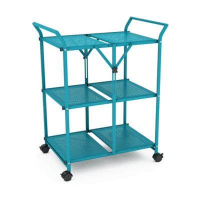 Capri Breeze Folding Cart with Handle in Blue
