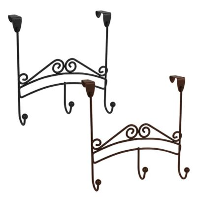 Spectrum™ Yorkshire Over the Door 3-Hook Rack in Black