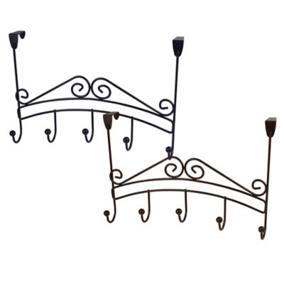 Spectrum™ Yorkshire Over the Door 5-Hook Rack in Black
