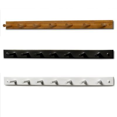 Spectrum™ 7-Peg Wall-Mount Wood Rack in White