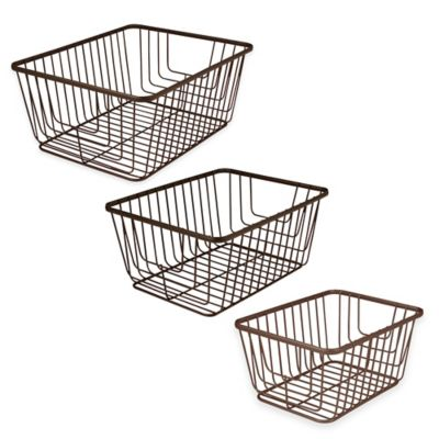 Spectrum® Ashley Small Storage Basket in Bronze