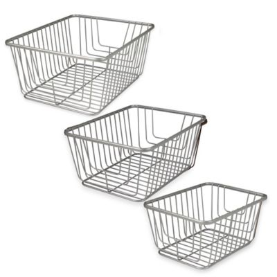Spectrum® Ashley Small Storage Basket in Satin Nickel