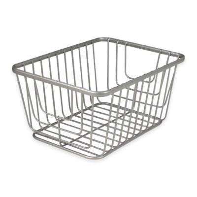 Spectrum® Ashley Small Storage Basket in Satin Nickel