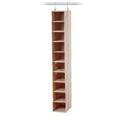[closetMAX]® SYSTEM™ 10-Shelf Shoe Organizer in Taupe