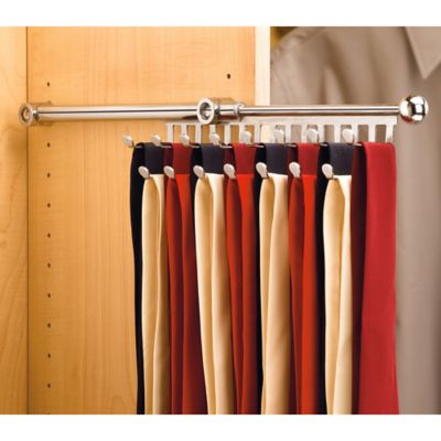 Rev-A-Shelf® 13-Hook Tie and Scarf Rack in Chrome
