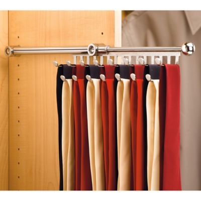 Rev-A-Shelf® 15-Hook Tie and Scarf Rack in Chrome