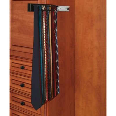Rev-A-Shelf® 19-Hook Side-Mount Tie Rack in Natural