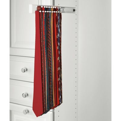 Rev-A-Shelf® 22-Hook Side-Mount Tie Rack in Black