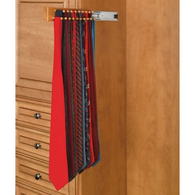 Rev-A-Shelf® 34-Hook Side-Mount Tie Rack in Natural