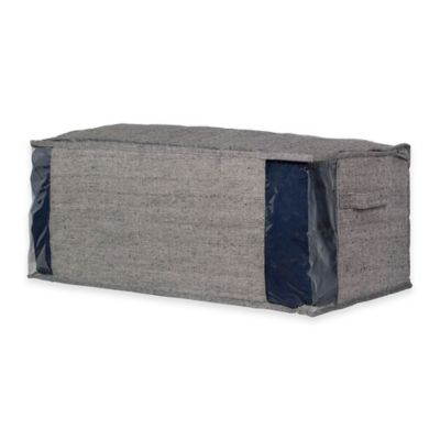 Arrow Weave Medium Storage Bag in Grey