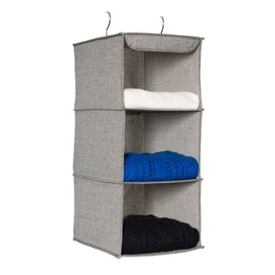 Arrow Weave 3-Shelf Sweater Organizer in Grey