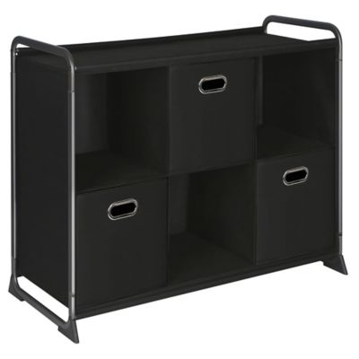 6-Cube Organizer with Three Drawers