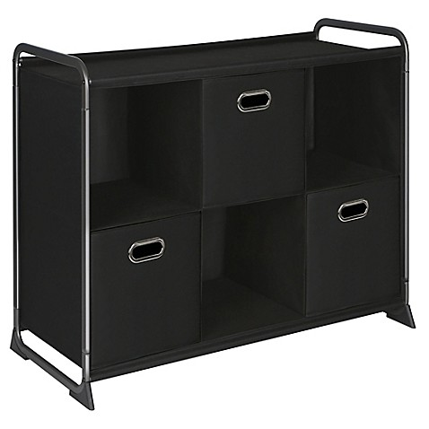 6 Cube Organizer With Three Drawers Bed Bath Amp Beyond