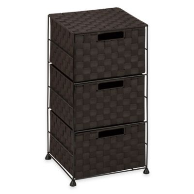 Household Essentials Honey-Can-Do 3-Drawer Wheeled Chest in Espresso