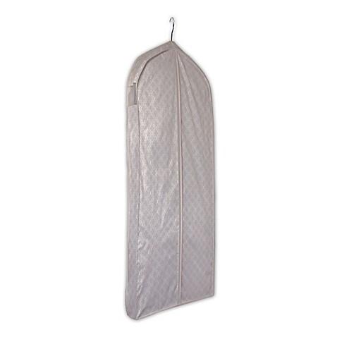 E z do garment storage bag in trellis print bed bath for Wedding dress garment bag for air travel