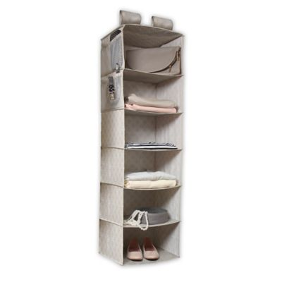 6-Shelf Hanging Organizer in Grey