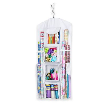 Hanging Gift Wrap Storage