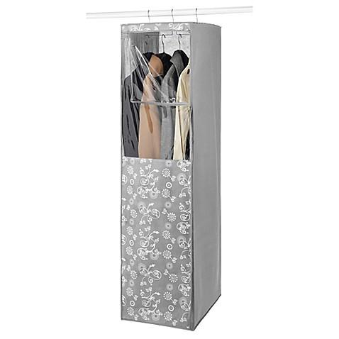 hanging garment closet in grey  bed bath  beyond