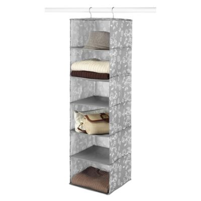 6-Shelf Hanging Accessory Shelves in Grey