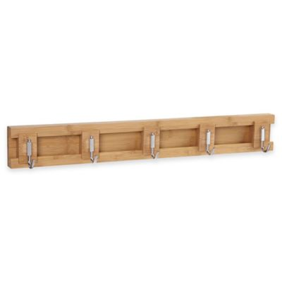 Household Essentials® 5-Hook Sliding Wall Coat Rack in Natural