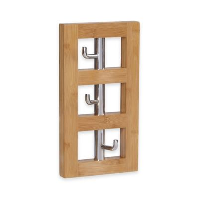 Household Essentials® 3-Hook Vertical Wall Coat Rack in Natural