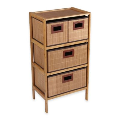 Household Essentials® 4-Drawer Bamboo Storage Chest in Natural