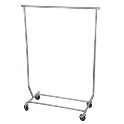 Household Essentials® Stainless Steel Single Bar Garment Rack in Silver