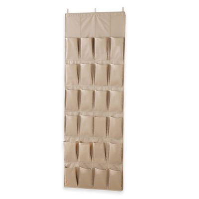 closetMAX System® 24-Pocket Over-the-Door Organizer in Taupe