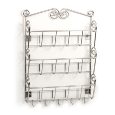 Spectrum™ Scroll Wall-Mount 3-Tier Letter Holder/Key Rack