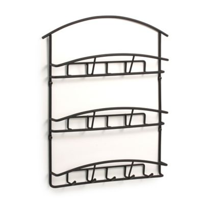 Spectrum™ Euro Wall-Mount 3-Tier Letter Holder/Key Rack