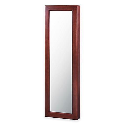 Jewelry armoire wall mirror
