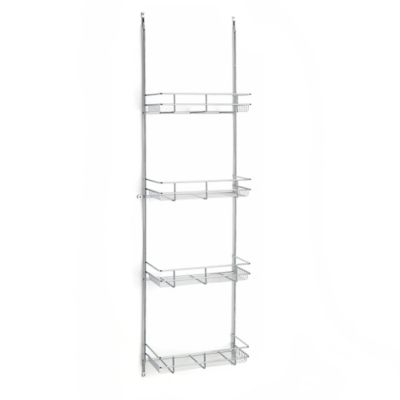Rev-A-Shelf® 4-Tier Door-Mount Linen and Grooming Rack in Chrome
