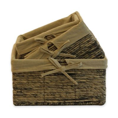 Bindmaize Baskets in Grey (Set of 3)