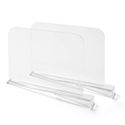 Bee Neat 2-Pack Shelf Dividers in Clear