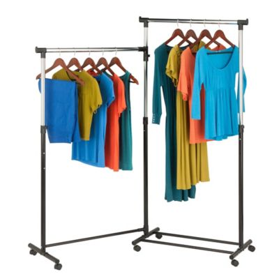 Honey-Can-Do® 2-Way Rotating Garment Rack in Black/Chrome