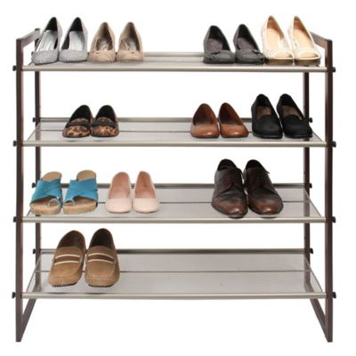 E-Z Do 4-Tier Mesh Shelf Shoe Rack