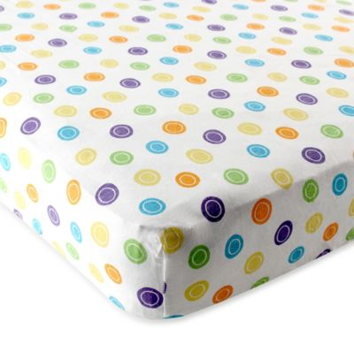 BabyVision® Luvable Friends® Fitted Pack 'n Play Sheet in Yellow Geometric