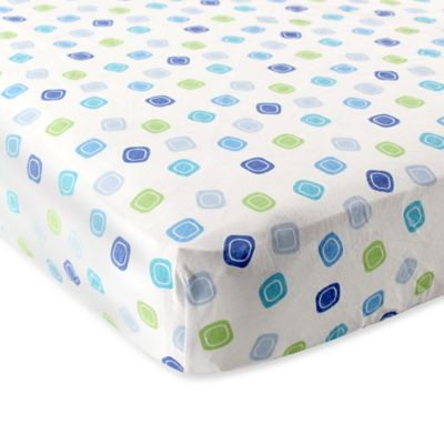 BabyVision® Luvable Friends® Fitted Pack 'n Play Sheet in Blue Geometric