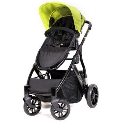 Satin Black/Kiwi Full Size Strollers