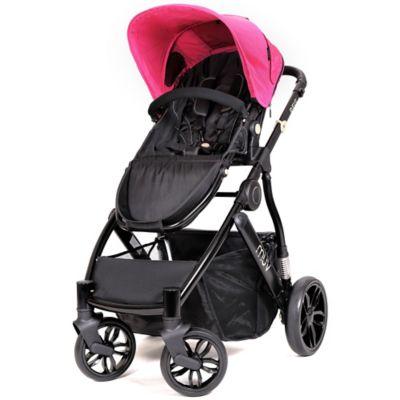 Muv REIS 4-Wheel Stroller in Satin Black/Candy