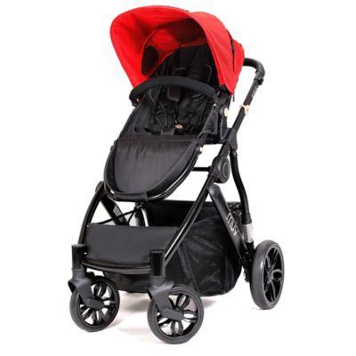 Muv REIS 4-Wheel Stroller in Satin Black/Cabernet